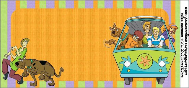 Scooby Doo Kit Completo Com Molduras Para Convites Rtulos Para