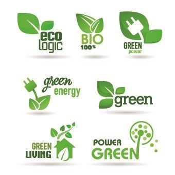 ECO labels and logos vector set 01