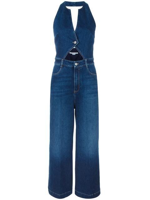 89e9fcc44e4b3 Shop Stella McCartney cut-out denim jumpsuit. | Jumpsuits in 2019 ...