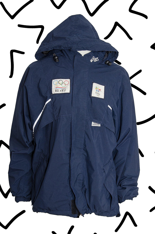sistema Mejorar guardarropa  Asics Nagano 1998 Winter Olympics vintage windbreaker jacket ...