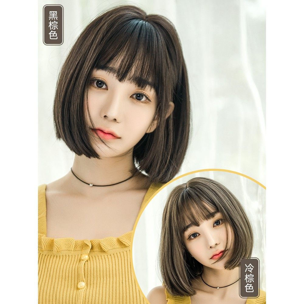 49 Korean Hairstyle For Female Round Face In 2020 Short Hair Styles For Round Faces Hairstyle Korean Hairstyle