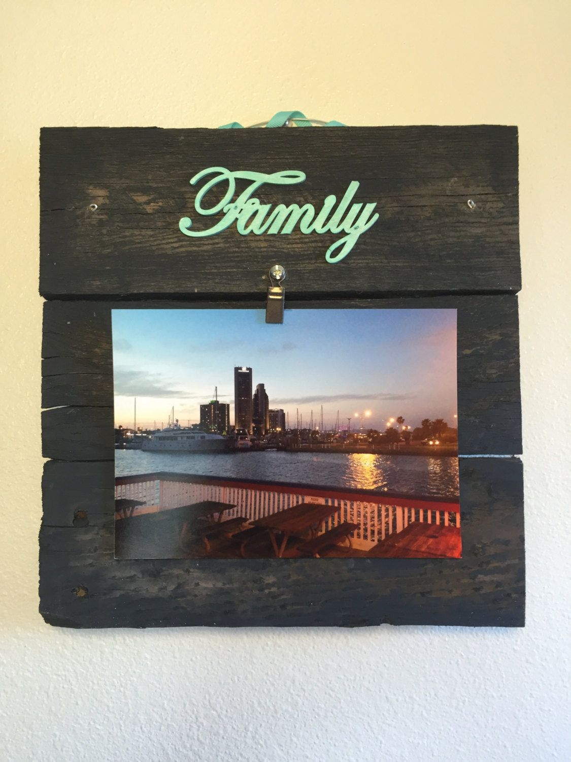 charcoal photo frame picture frame wooden collage frame rustic frame reclaimed