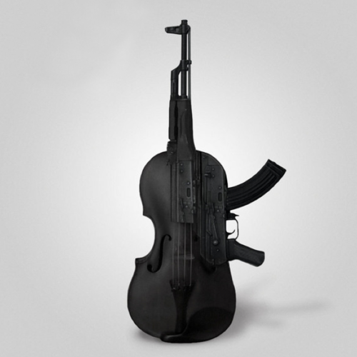 Is that    An AK-47 violin? Okay, this wins  Everyone go