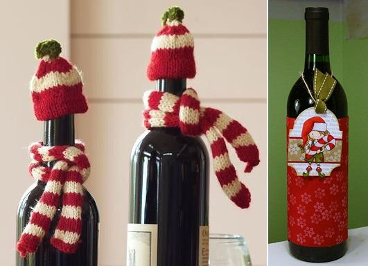 Ideas For Wine Bottle Decoration Christmas Wine Wrapping Handmade Wine Bottle Decoration Elements