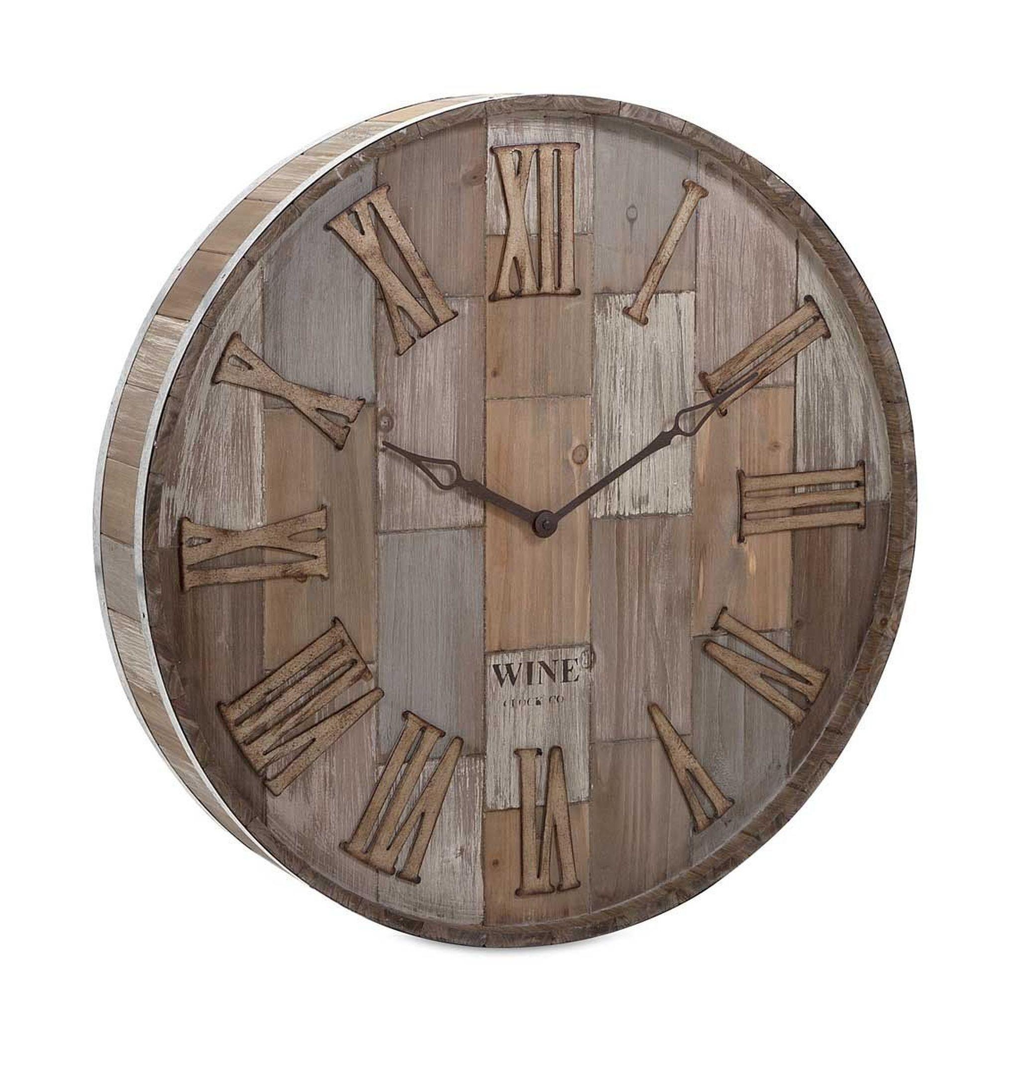 239 40 Imax Wine Barrel Wood Wall Clock Wine Barrel Wall Wall Clock Wood Wall Clock