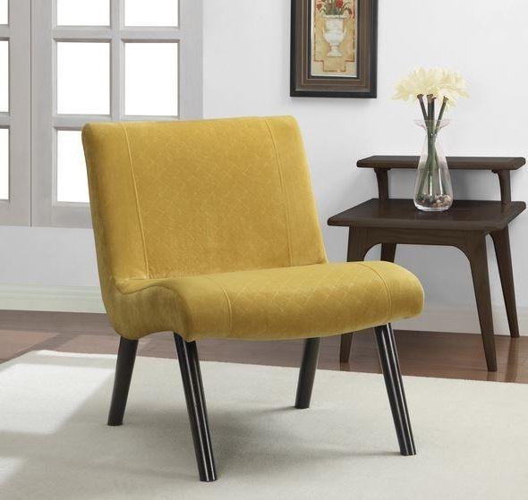 Retro Modern Chair Mid Century Vintage Accent Mustard ...