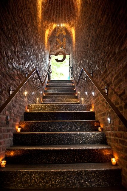 The Stairs to the Underground with Glitter Initials at Entrance of Deity........Brooklyn Bat Mitzvah