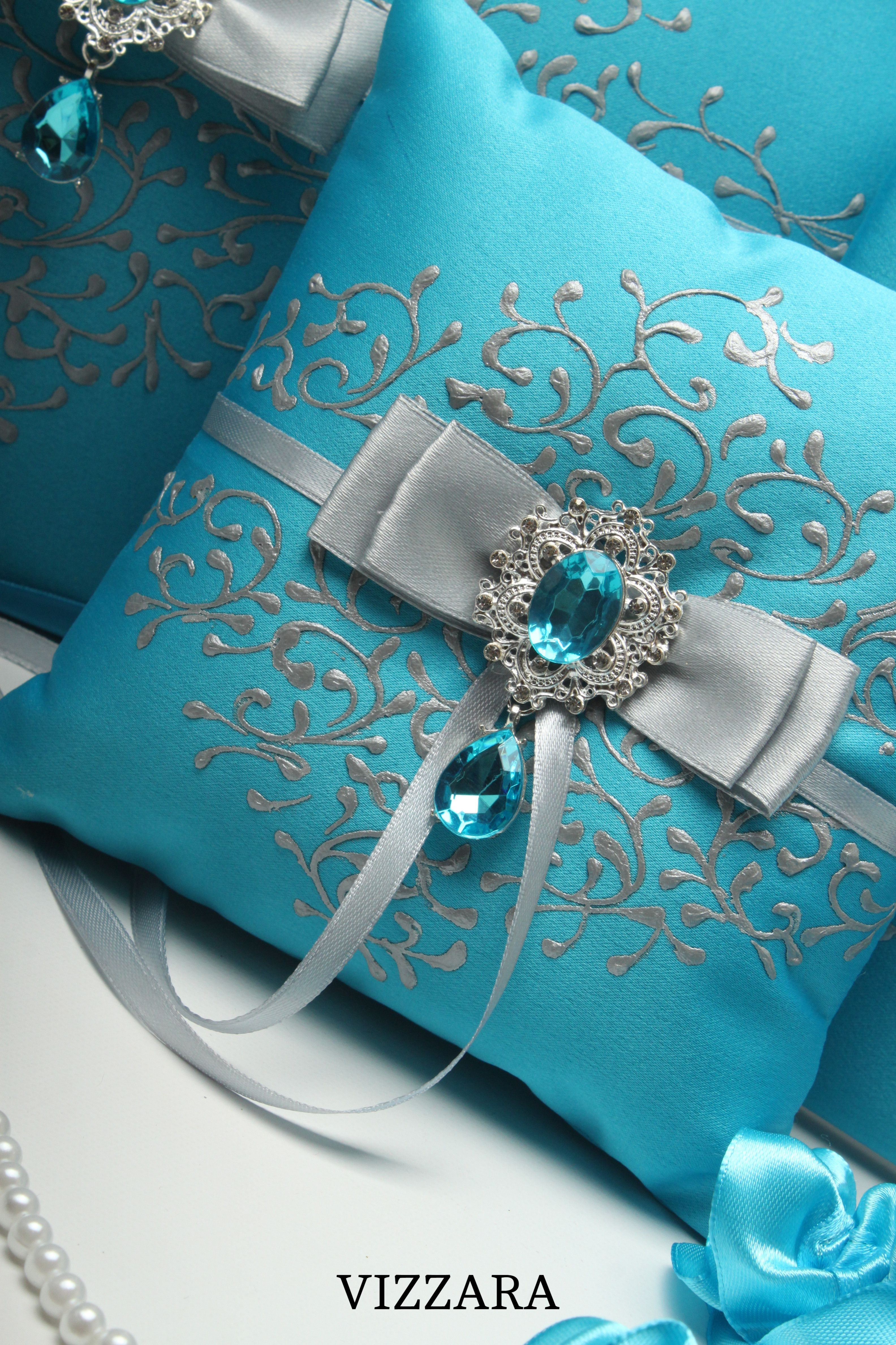 Ring bearers pillows turquoise wedding ring bearer pillow ideas