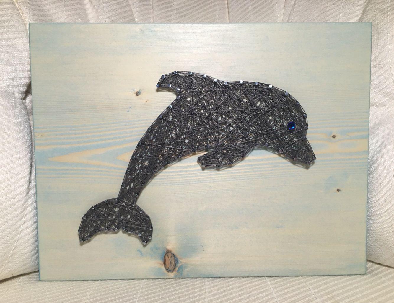 Etsy Art Custom Dolphin String Art Ocean Wall Decor Wood Art Nautical