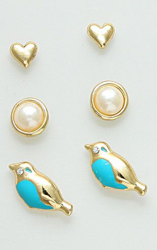Robin Earring Set in Turquoise