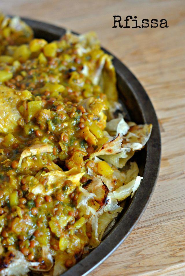 Rfissa (moroccan dish) (isn't this the best!?) yum ...