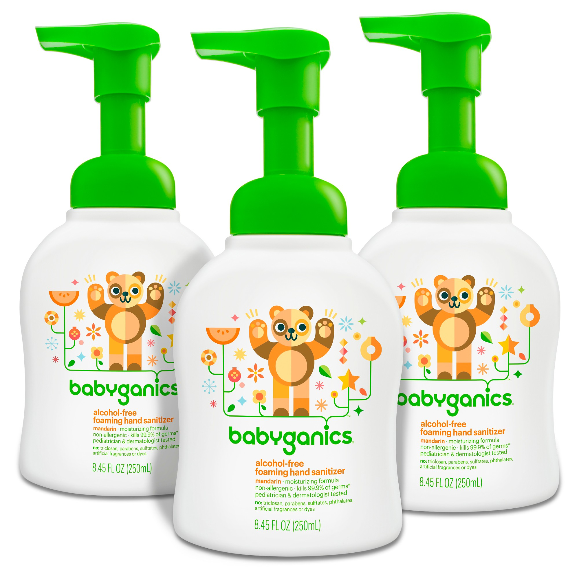 Babyganics Alcohol Free Foaming Hand Sanitizer Bundle 2 Items