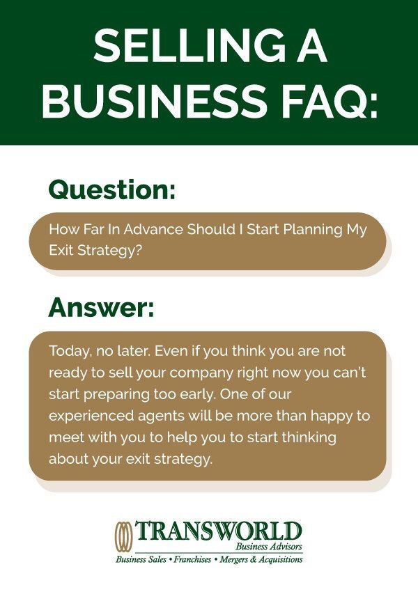 How Far In Advance Should I Plan My Business Exit    Sale