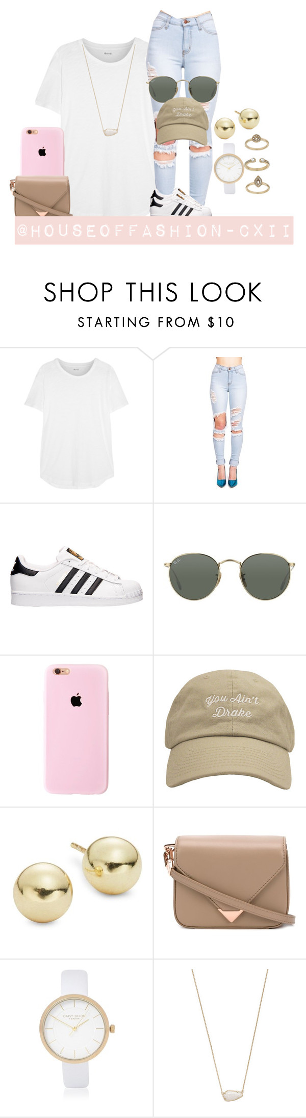 """you ain't drake??"" by houseoffashion-cxii ❤ liked on Polyvore featuring Madewell, adidas, Ray-Ban, Lord & Taylor, Alexander Wang, River Island, Kendra Scott and Topshop"