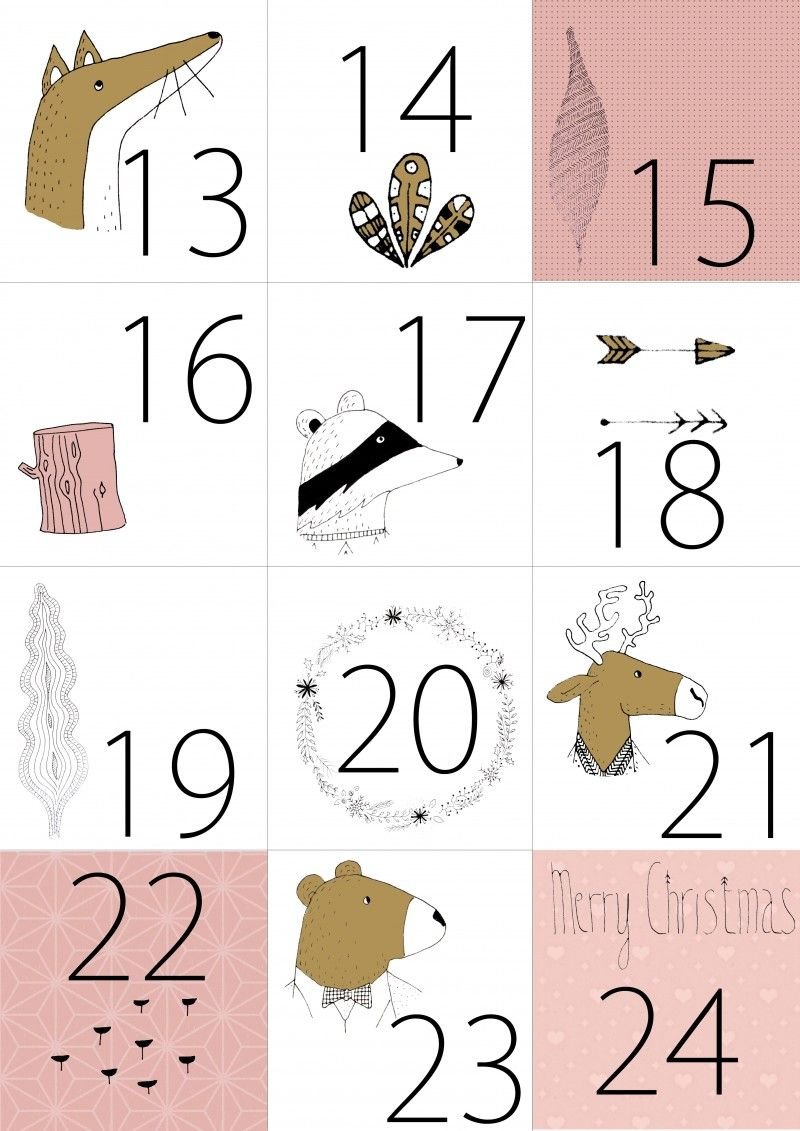 calendrier de l avent imprimer gratuit 22 rue des nuages calendrier de l 39 avent pinterest. Black Bedroom Furniture Sets. Home Design Ideas