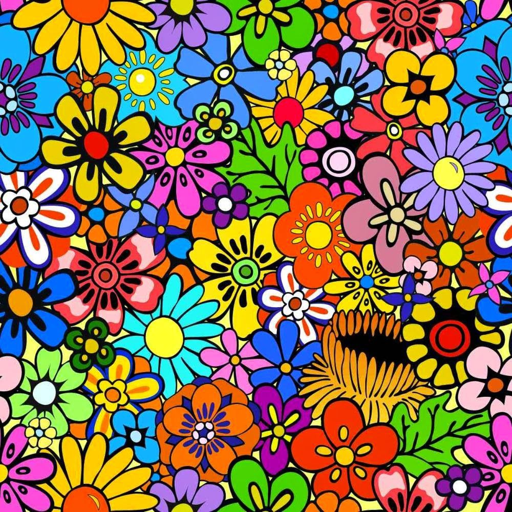 Desenhos De Flores Coloridas Para Imprimir Papel De Parede Hippie Flores De Desenhos Animados Arte Flor