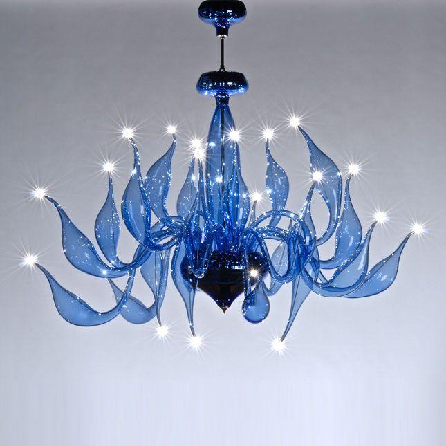 Modern Blown Glass Chandelier Modern chandeliers, blown ...