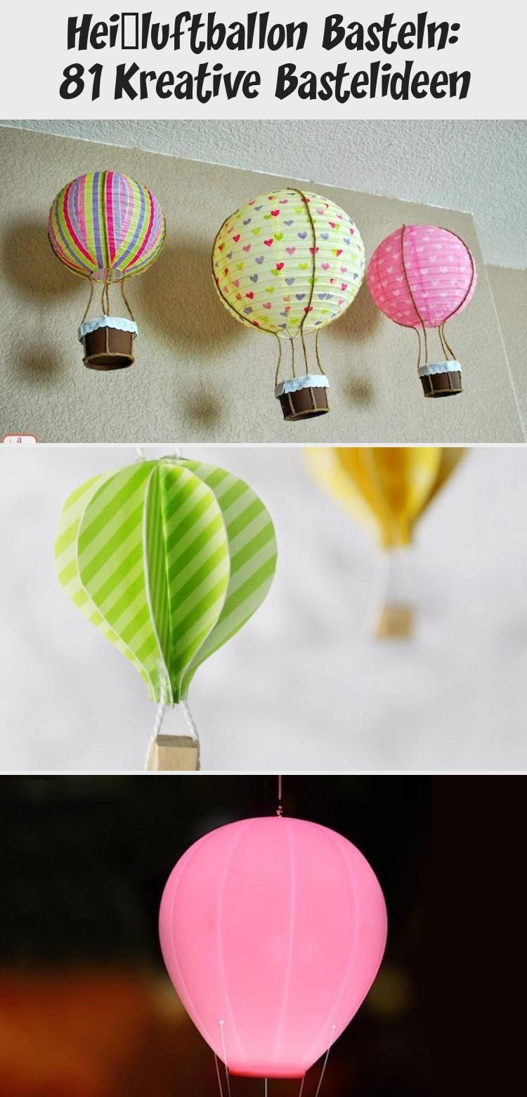 Hangende Ballons Heissluftballon Deko Basteln Mit Papier Braune