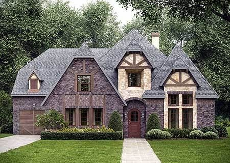 House · tudor inspired home plan 36381tx architectural designs