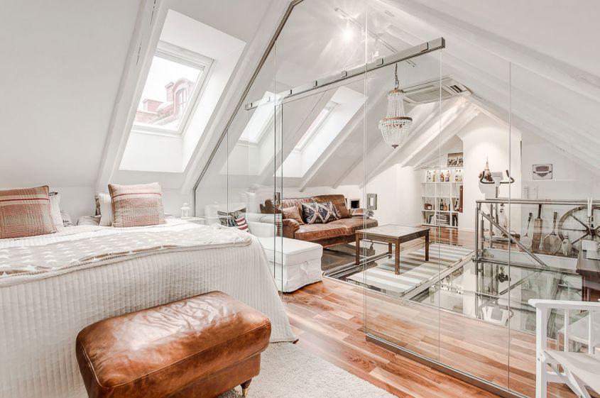 Come arredare la camera da letto in mansarda | Interior | Pinterest ...