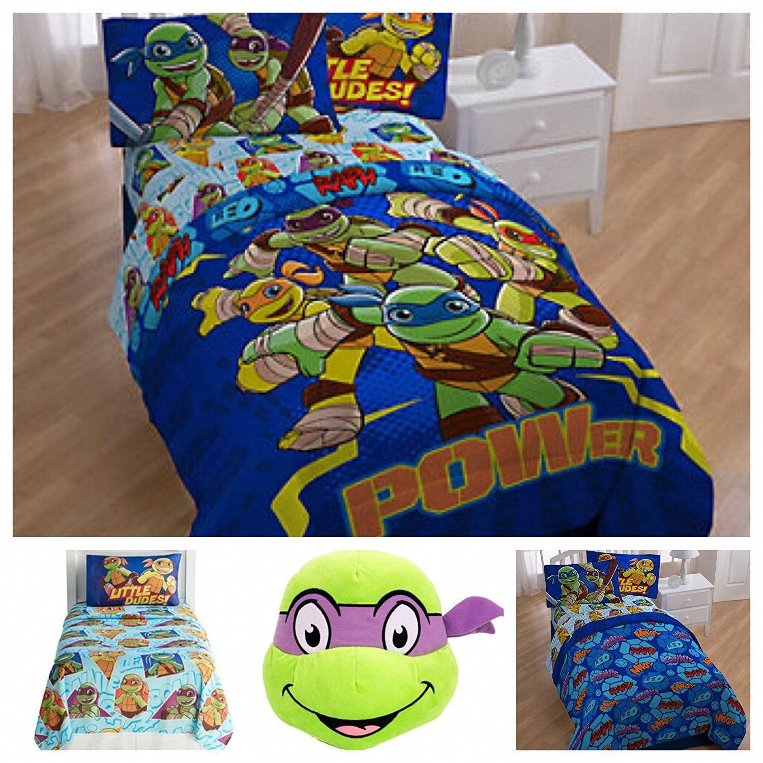 Teenage Mutant Ninja Turtles Tmnt Bedding Comforter Set With Sheets And Plush Pillow Toy Twin Price 89 30 Fre Tmnt Bedding Comforter Sets Plush Pillows