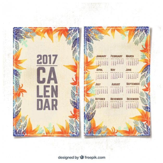 Pin by Anna Popovskaya on Calendar 2017 Pinterest Watercolor - Perpetual Calendar Template