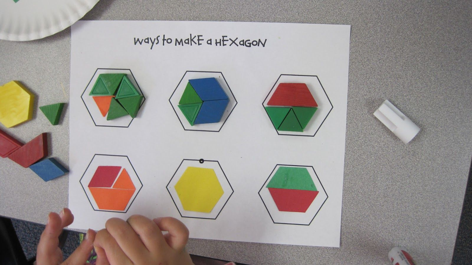 Hexagon Pattern Blocks Activity Worksheets Google Search