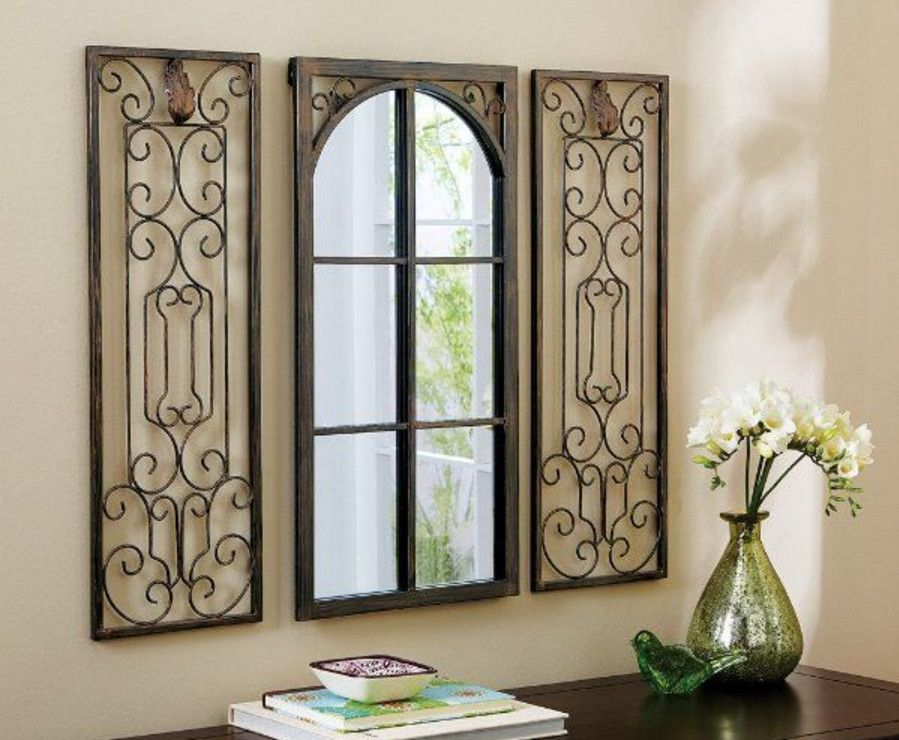 wrought iron wall decor rectangular ... interesting idea. | Wall ...