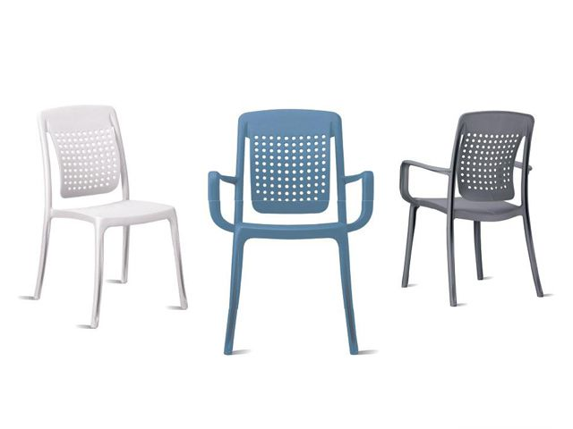 Grosfillex Factory Outdoor Indoor Chairs Armchairs Moulded With