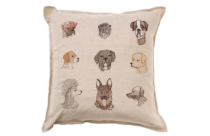 Dog 16x16 Pillow, Natural $98.00