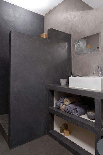 R novation salle de bain douche sans joint et sans carrelage salle de bains r novation salle - Prix d une salle de bain cle en main ...