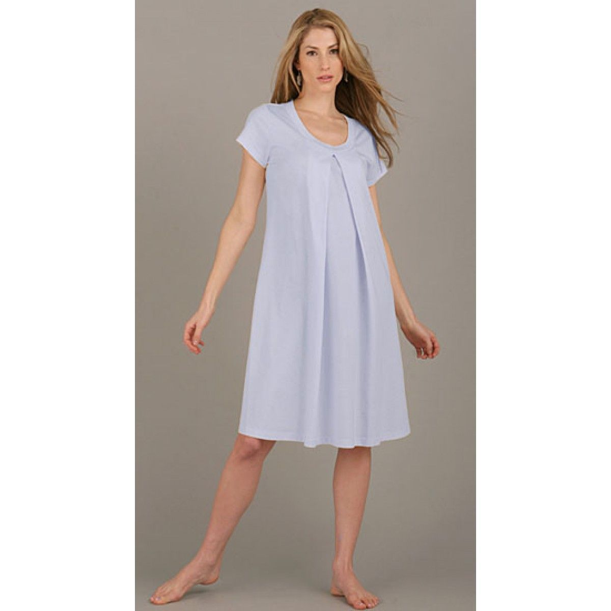 137561754393b Organic Short Sleeeve Hospital Nursing Gown now on sale on our website  tummystyle.com. Wear something comfortable and convenient while giving birth .