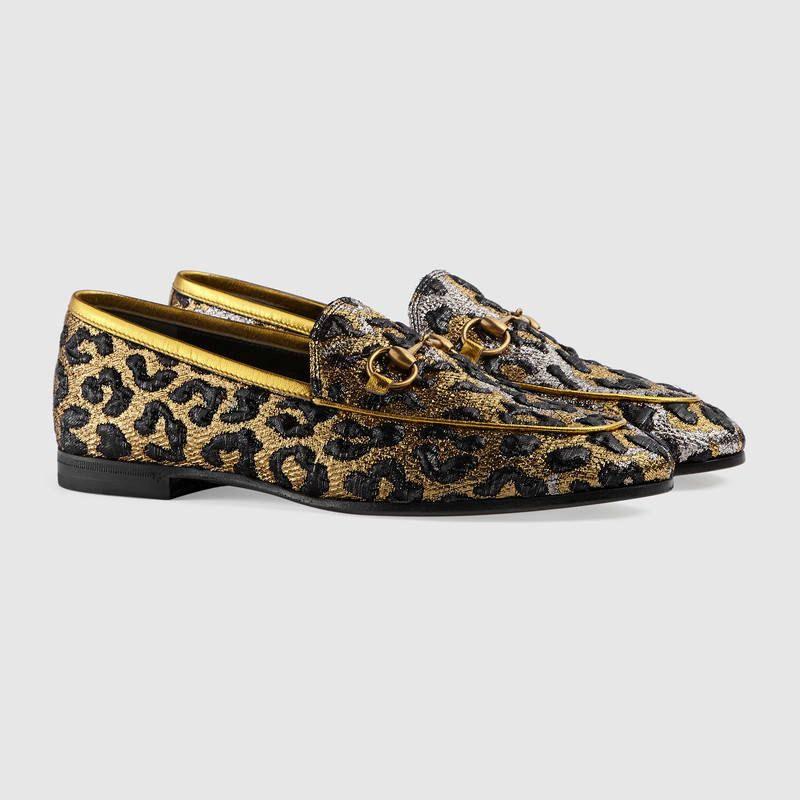 970f6d7c9ac Gucci-Jordaan-leopard-jacquard-loafer