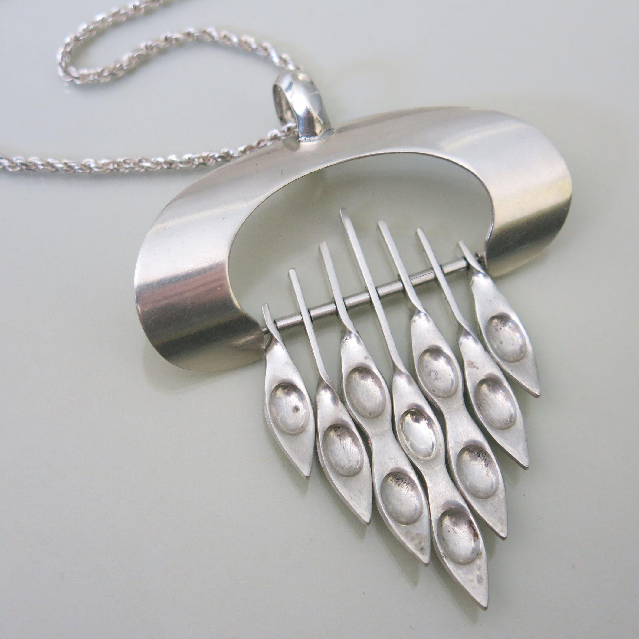 Vintage Norwegian Modernist sterling silver Einar Modahl ...