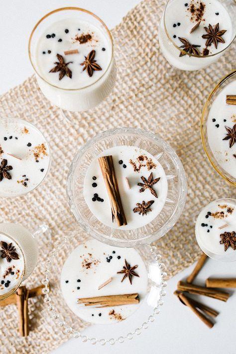 Eggnog Soy Wax Candle DIY with Essential Oils | Jojotastic