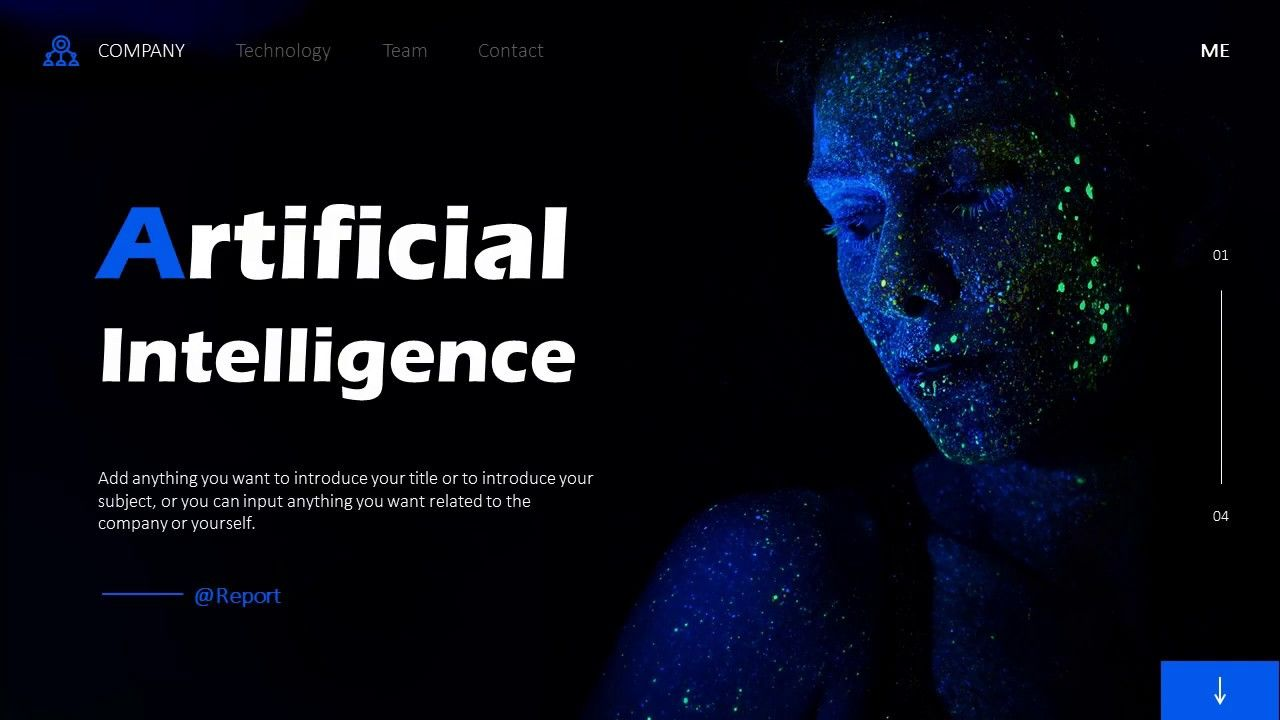 Artificial Intelligence Design Powerpoint Powerpoint Templates