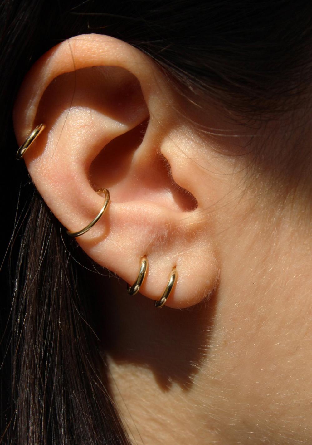 Simple Stud, Piercing Earring Helix Conch 14K Solid Gold Bar Birthstone Stud Lobe Tragus Cartilage Minimalist Earring