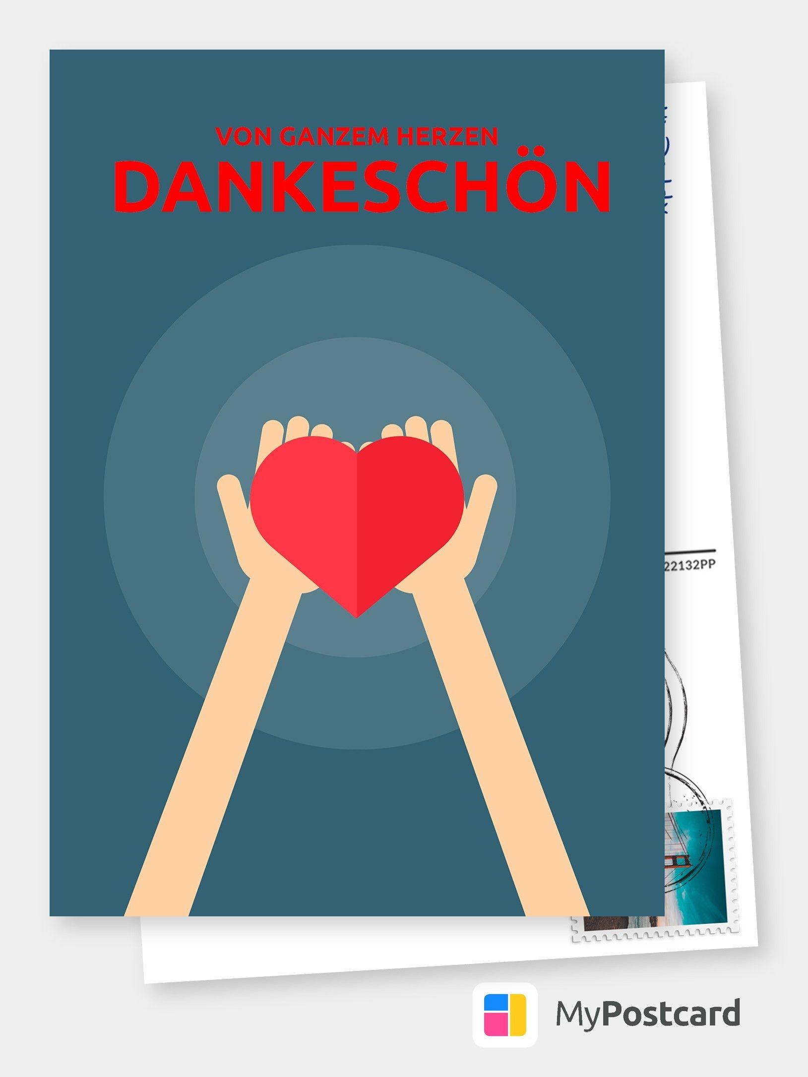 Von Ganzem Herzen Dankeskarten Spruche Echte Postkarten Online Versenden Poster Movie Posters Sayings