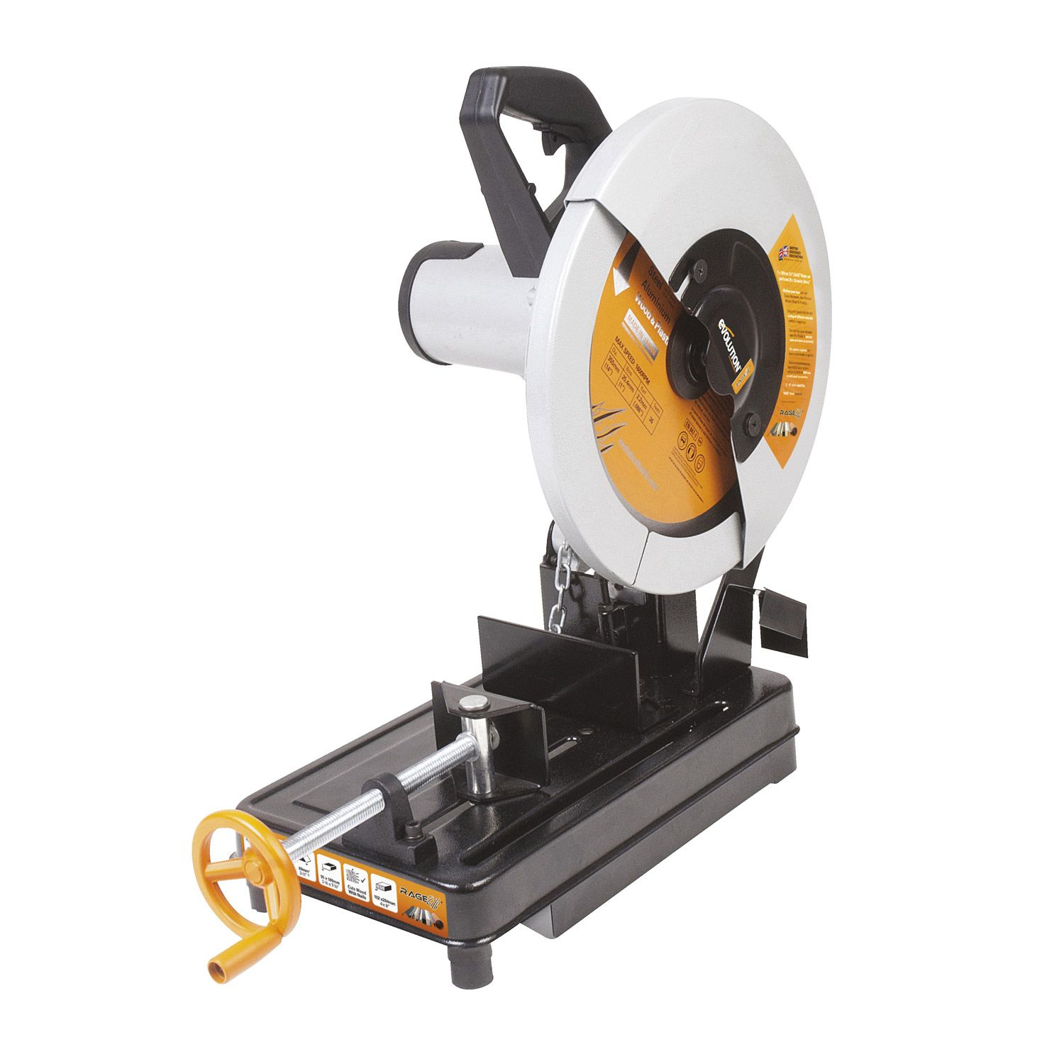 Leroy merlin tools pinterest evolution multi purpose chop saw cuts steel aluminum wood and plastics using a single blade and stone concrete and bricks with a diamond blade greentooth Image collections
