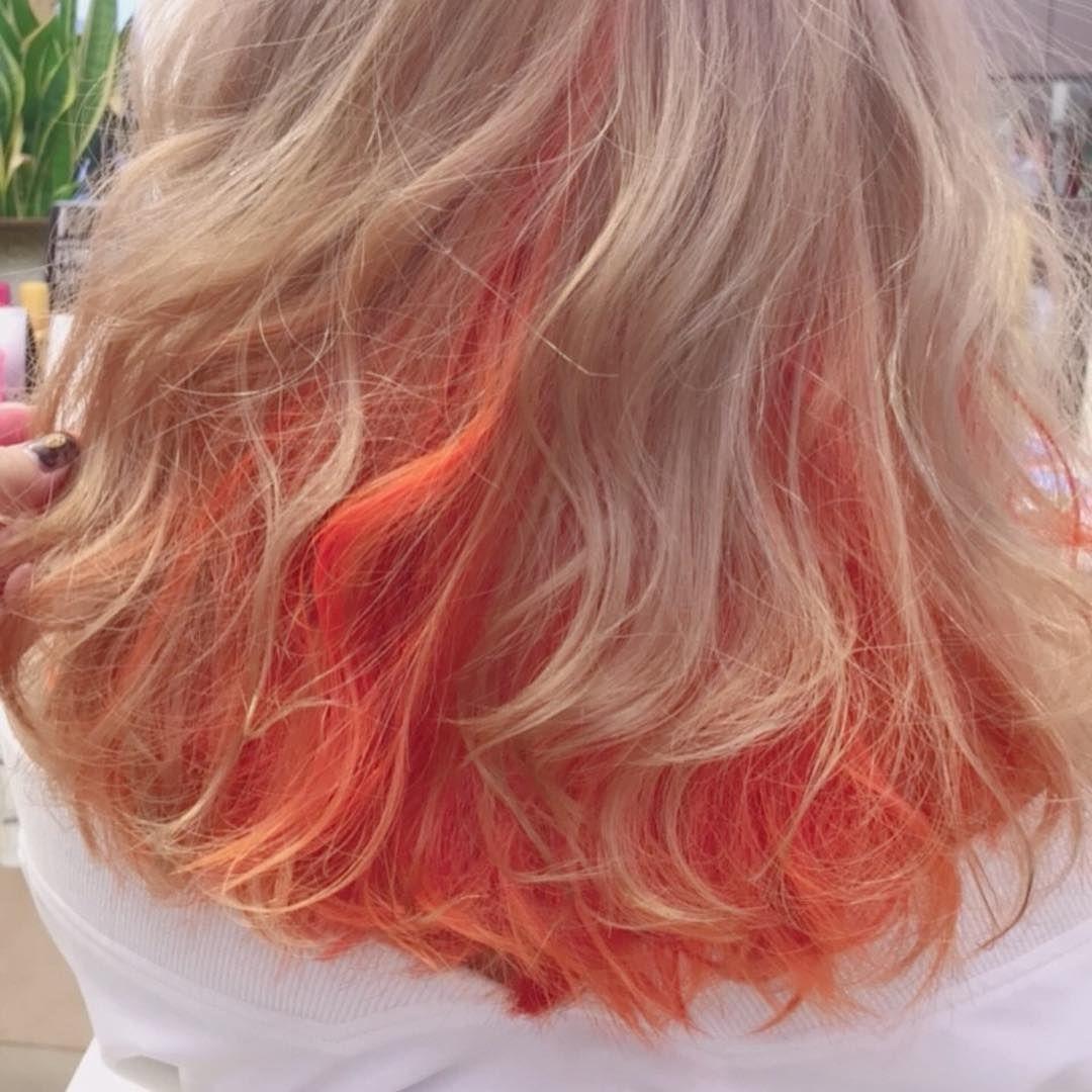 美容師 オレンジ オレンジカラー ヘアカラー