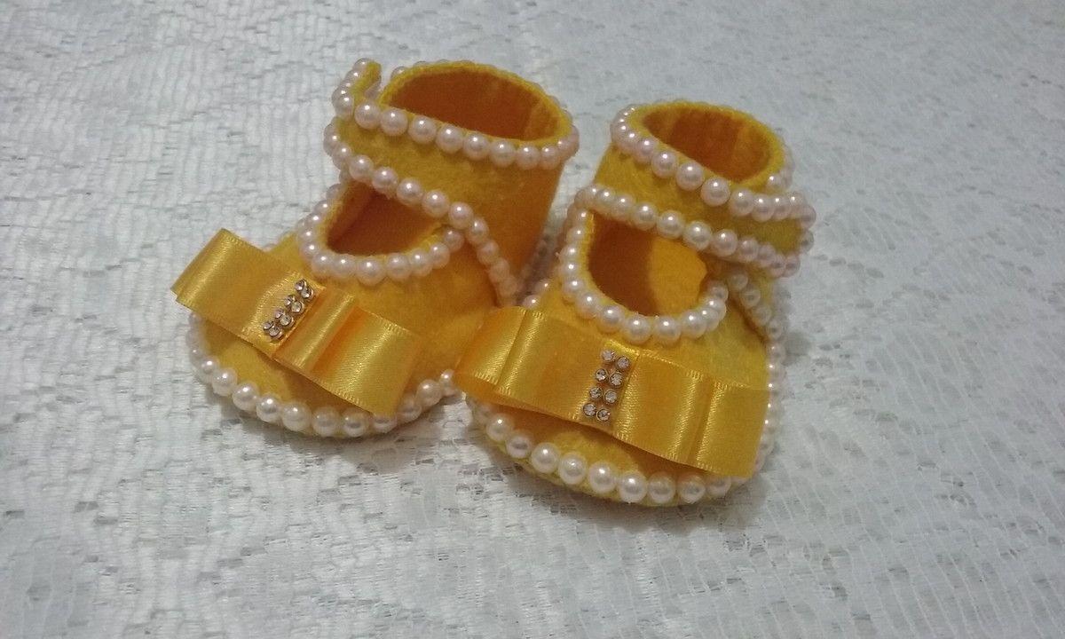 Sapatinho De Bebe Com Tiara Sapatos Sapatos De Feltro Tiara