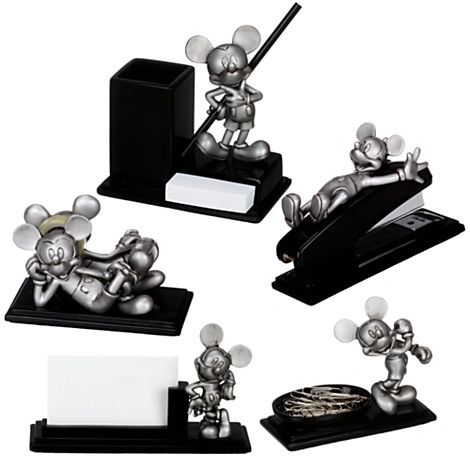 Pewter Mickey Mouse Desk Set 5 Pc On Disney