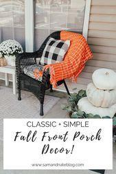 FALL FRONT PORCH DECOR,  #Decor #Fall #front #porch #ThanksgivingDesigninspiration #fallfrontporchdecor