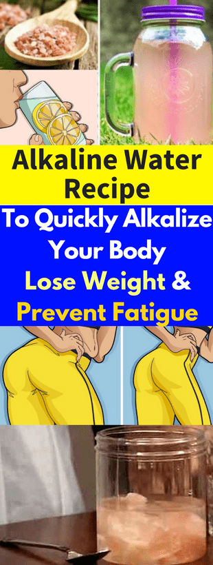 Alkaline Water Recipe To Quickly Alkalize Your Body, Lose Weight & Prevent Fatigue!!!  #lifehacks  #...