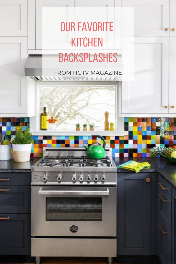 Colorful backsplash trends for kitchens from HGTV. in 2020 ...
