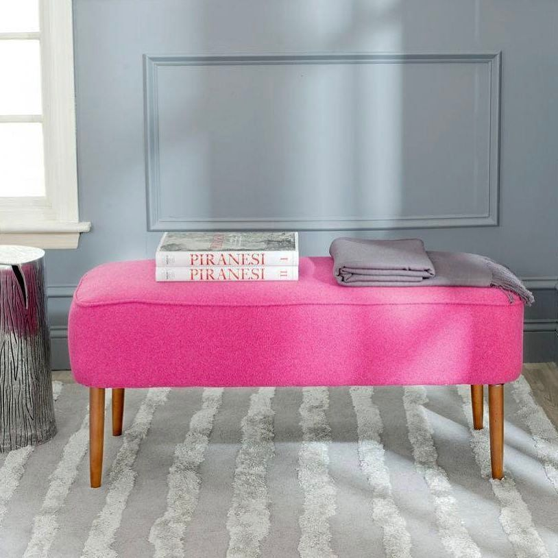 Looking for a *serious* pop of pink? This bright bench is calling ...