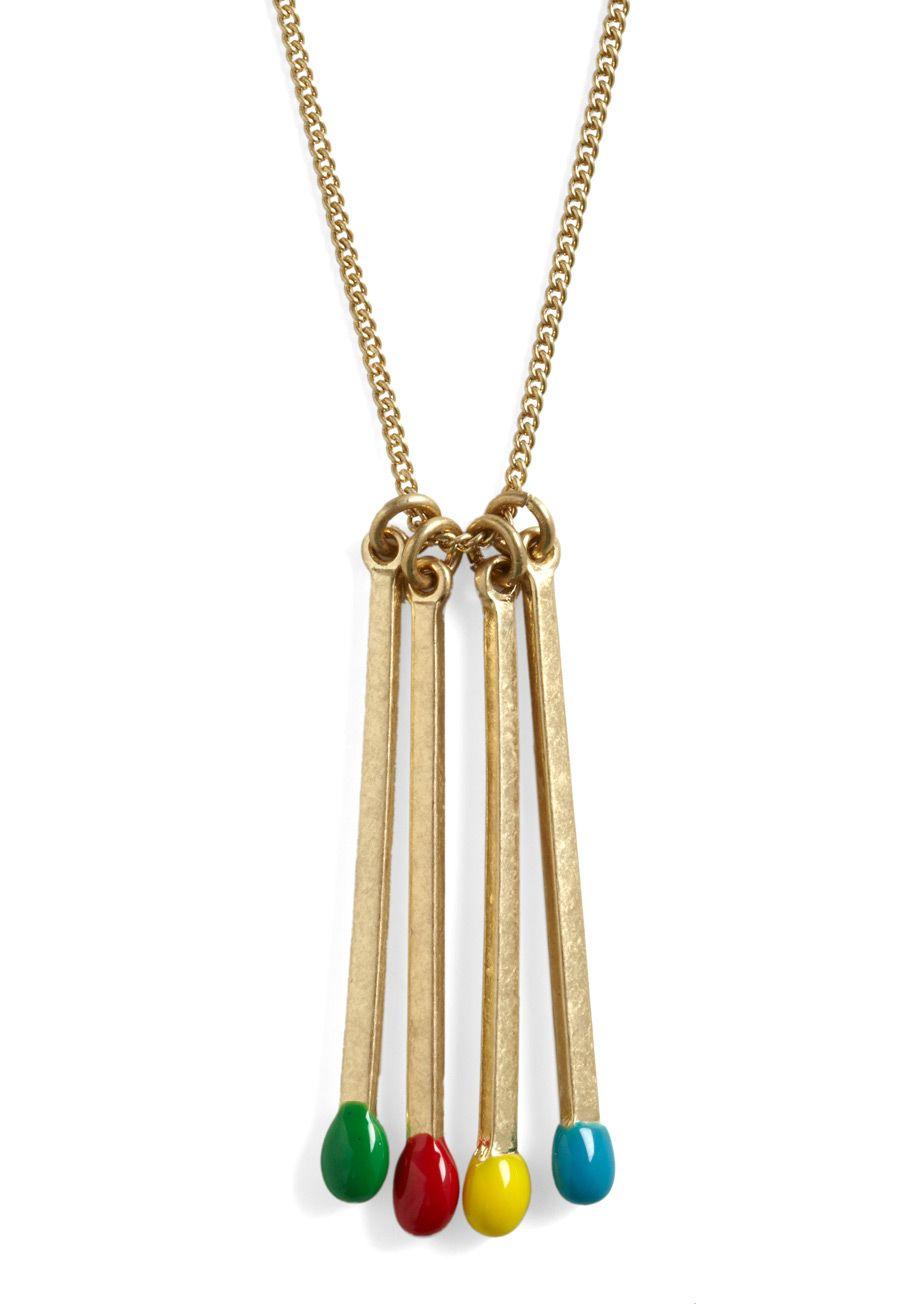 Matchstick necklace.