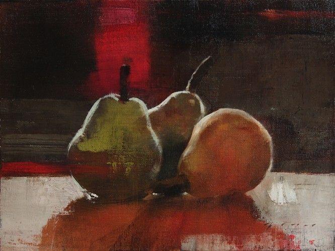 Douglas Fryer, Autumn Pears oil