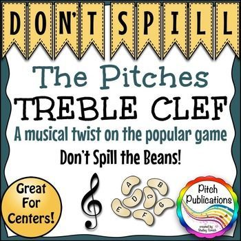 Music Center: Don't Spill the Pitches! - Treble Clef Pitch Note