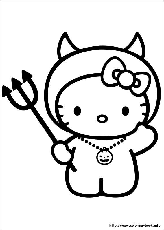 Hello Kitty coloring picture | Hello Kitty Coloring Pages | Pinterest